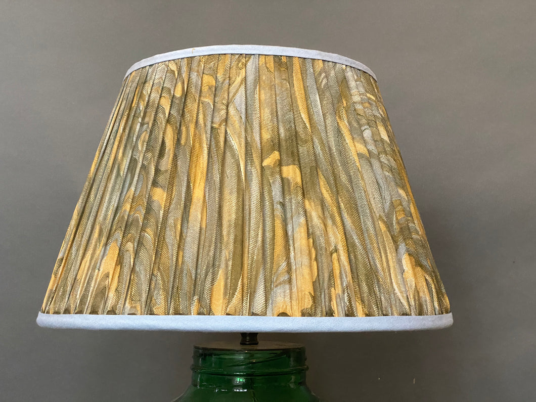 Blue and green swirl silk Lampshade