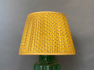 Yellow paisley silk Lampshade