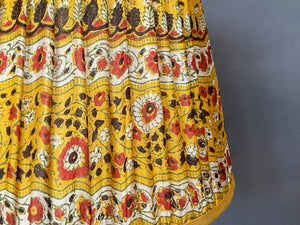 Yellow and red paisley Silk Lampshade