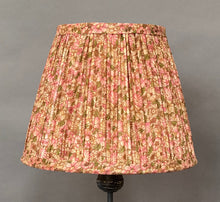 Load image into Gallery viewer, Pink & green Liberty with border silk lampshade