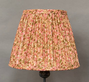 Pink & green Liberty with border silk lampshade