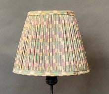Load image into Gallery viewer, Pastel chequerboard with border silk lampshade