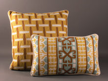 Load image into Gallery viewer, Chartreuse Kashmiri Crewel Cushion