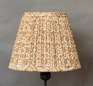 Donkey and coral border silk lampshade