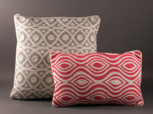 Load image into Gallery viewer, Grey And White Kashmiri Crewel Cushion