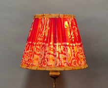 Load image into Gallery viewer, Brown & red batik silk lampshade