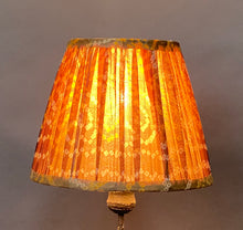 Load image into Gallery viewer, Brown & ochre bandani I silk lampshade