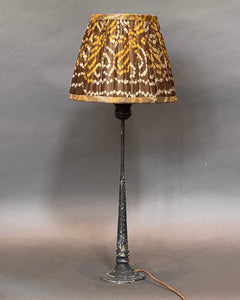 Brown & ochre bandani I silk lampshade