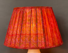 Load image into Gallery viewer, Vermillion paisley silk Lampshade