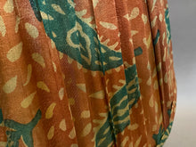 Load image into Gallery viewer, Terracotta & teal paisley silk lampshade