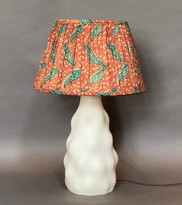 Terracotta & teal paisley silk lampshade