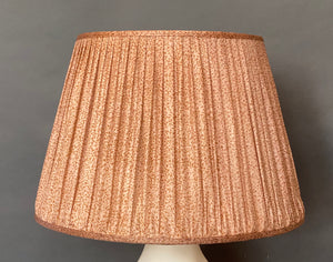 Pale pink silk lampshade