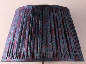 Violet Blue and Navy Silk Lampshade
