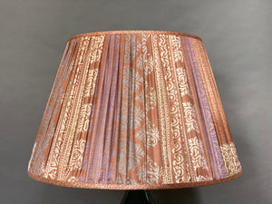 Pale pink and cream with pallu silk lampshade