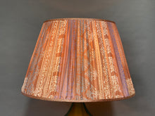 Load image into Gallery viewer, Pale pink and cream with pallu silk lampshade