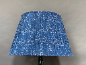 Indigo Triangle cotton Cotton Lampshade