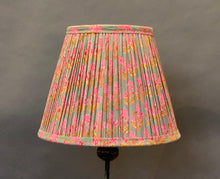 Load image into Gallery viewer, Pink & Teal floral Cotton Lampshade