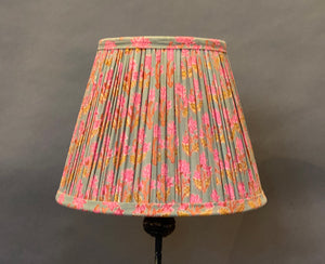 Pink & Teal floral Cotton Lampshade