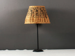 Sand And Black Silk Lampshade