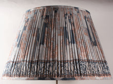 Load image into Gallery viewer, Shades of Blue with Dusty Pink Silk Lampshade