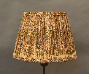 Toffee & black paisley Silk Lampshade