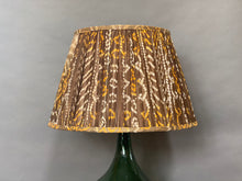 Load image into Gallery viewer, Brown & yellow bandani silk lampshade