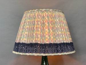 Pastel chequerboard with border silk lampshade