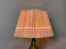 Load image into Gallery viewer, Donkey and coral border silk lampshade