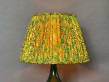 Load image into Gallery viewer, Green & citrine silk lampshade