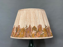 Load image into Gallery viewer, Cream with autumn border silk lampshade