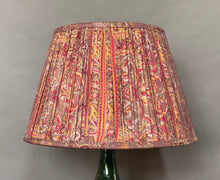 Load image into Gallery viewer, Lilac grey paisley silk lampshade