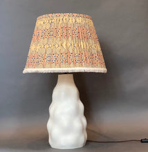 Load image into Gallery viewer, Bagru fringed block print cotton Lampshade