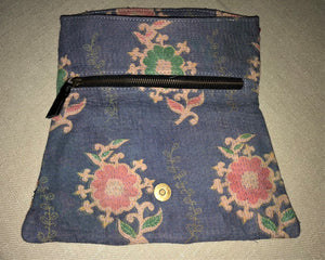 Blue And Red Vintage Clutch Bag