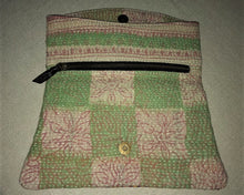 Load image into Gallery viewer, Pink And Green Vintage Clutch Bag