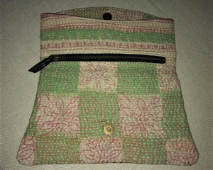 Pink And Green Vintage Clutch Bag