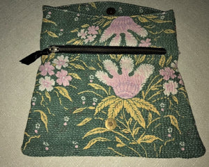 Green And Pink Vintage Clutch Bag