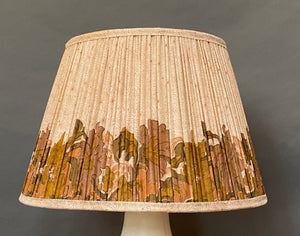 Cream with autumn border silk lampshade