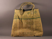 Load image into Gallery viewer, Shades of Green Kantha Cotton Dog Bag