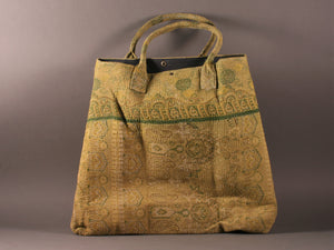 Shades of Green Kantha Cotton Dog Bag