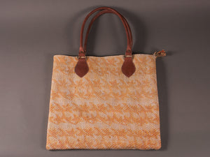 Yellow and Cream Kantha Cotton Dog Bag