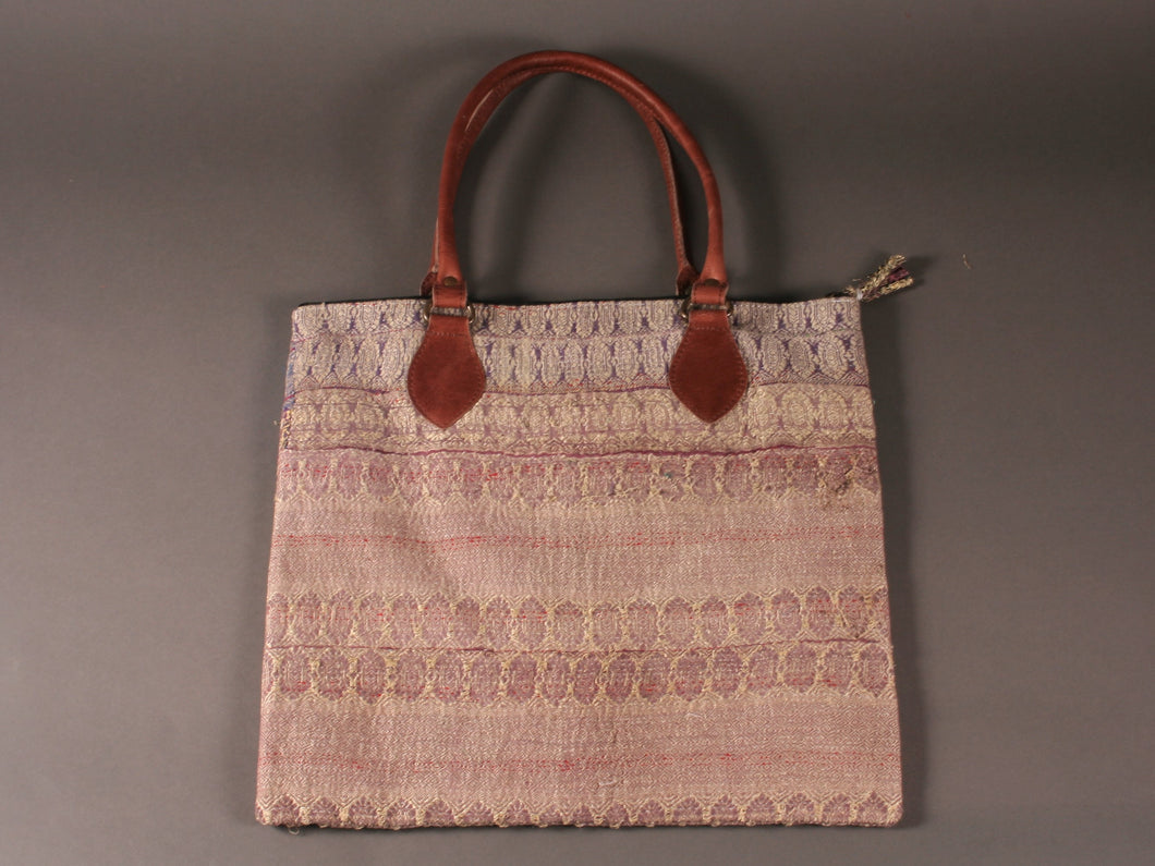 Lilac Kantha Cotton Dog Bag