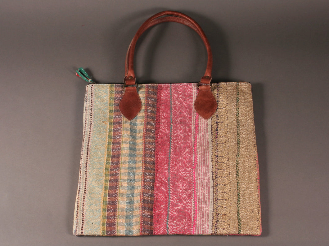 Multicoloured Kantha Cotton Dog Bag
