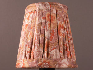 Dusty Pink Floral Silk Lampshade