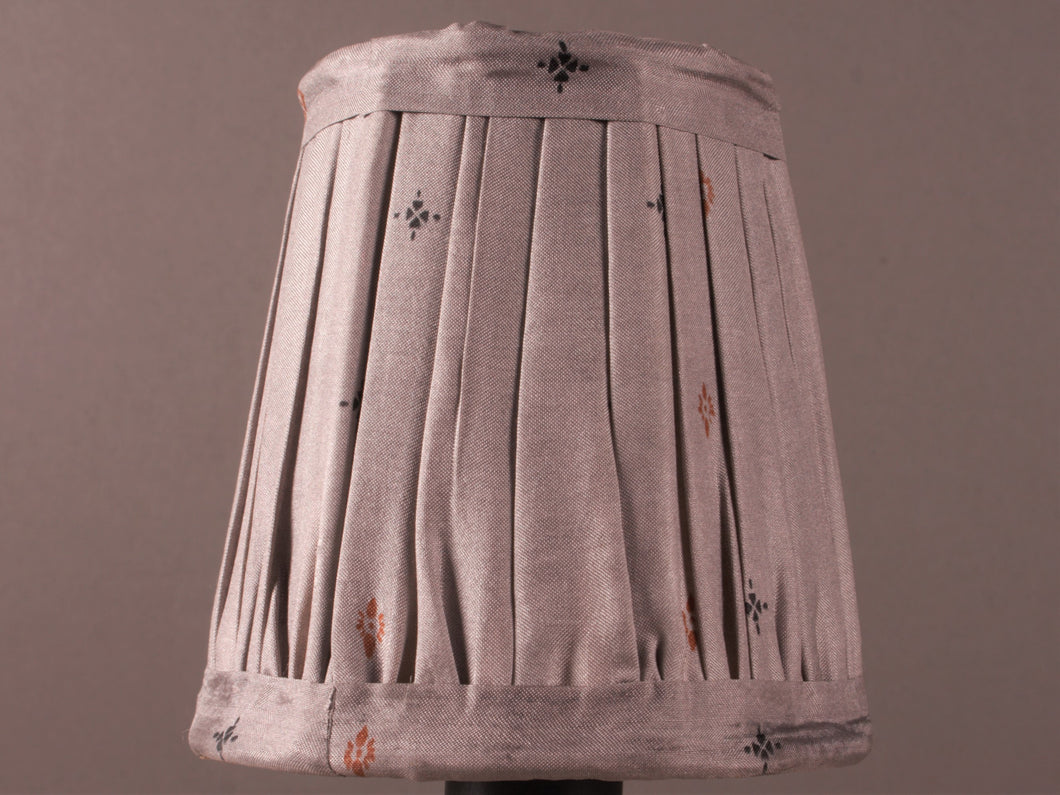 Dove Grey Silk Lampshade