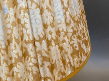Load image into Gallery viewer, Gold white and blue silk Lampshade