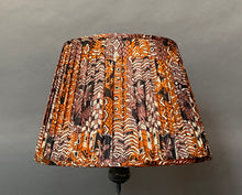 Load image into Gallery viewer, Burnt orange and lilac silk Lampshade