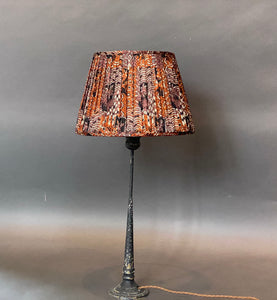 Burnt orange and lilac silk Lampshade
