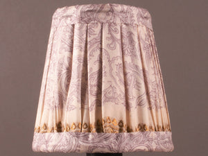Pale Lilac with Gold Border Silk Lampshade