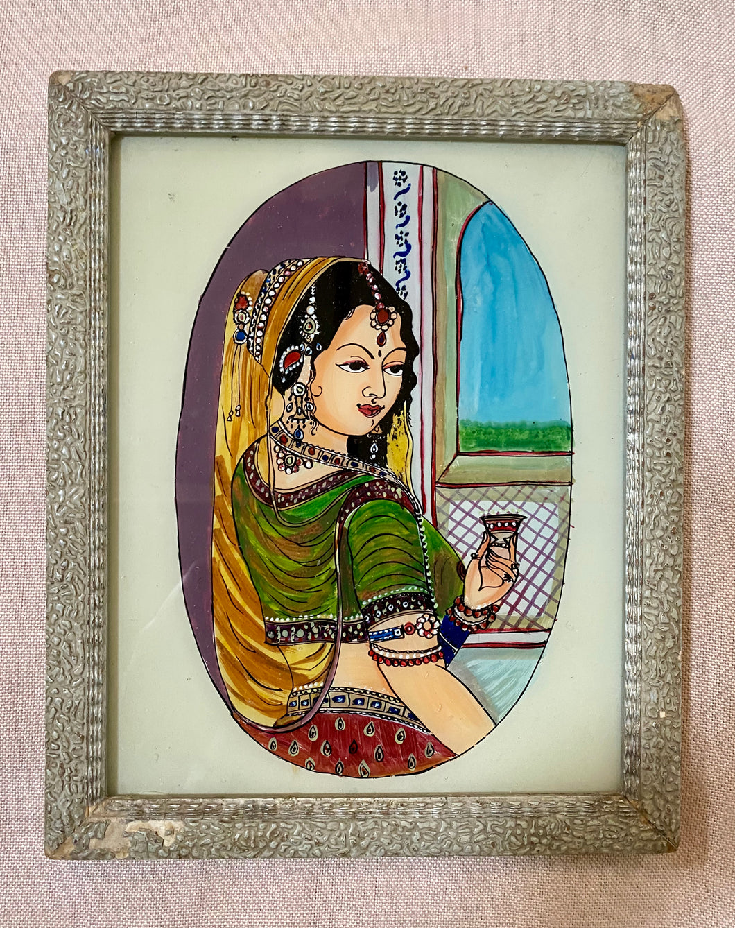 Indian Faces Medium Glass Painting