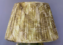 Load image into Gallery viewer, Green & Cream Silk Lampshade